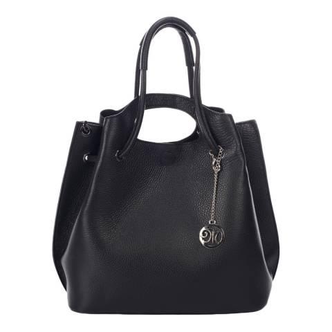 Markese Black Top Handle Bag