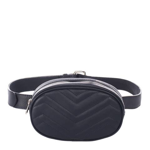 Markese Navy Quilted Leather Belt Bag