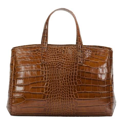 Lisa Minardi Brown Leather Top Handle Bag