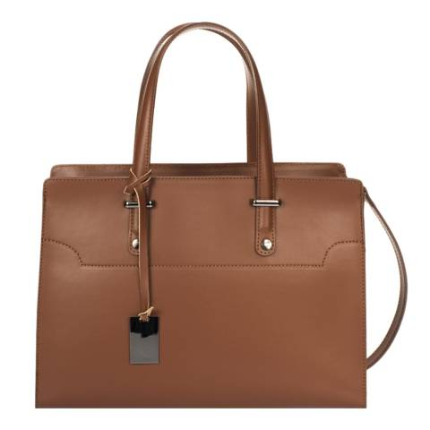 Giorgio Costa Brown Leather Top Handle Bag