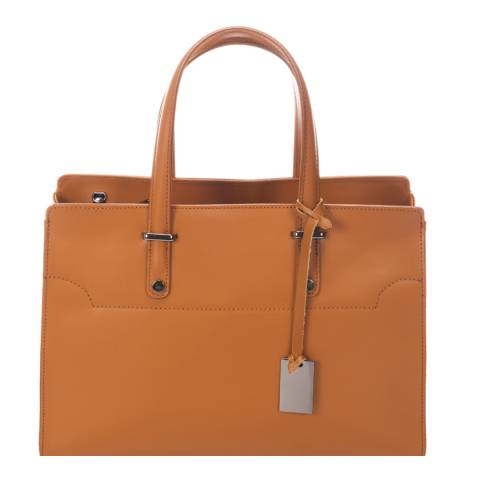Giorgio Costa Cognac Leather Shoulder Bag