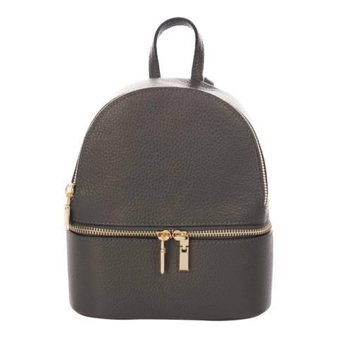 Giorgio Costa Dark Grey Leather Backpack