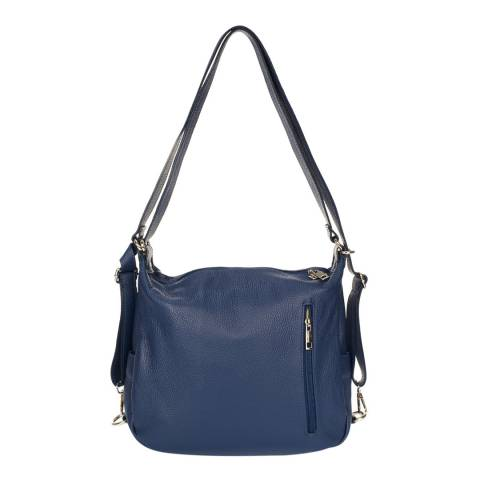 Giorgio Costa Blue Leather Backpack