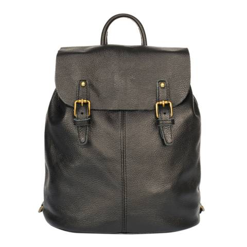 Giorgio Costa Black Leather Backpack