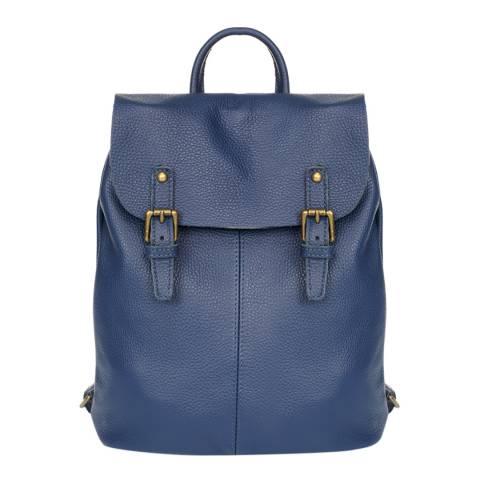 Giorgio Costa Blue Leather Backpack