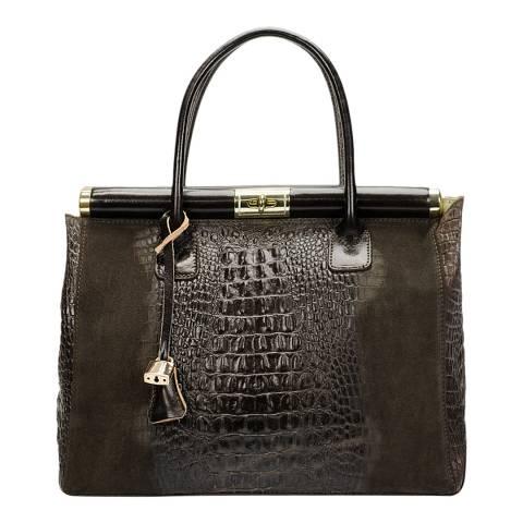 Markese Dark Brown Leather Shoulder Bag