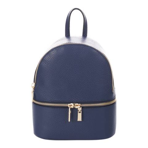 Giorgio Costa Navy Leather Backpack