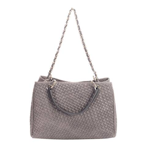 Massimo Castelli Dark Grey Leather Top Handle Bag