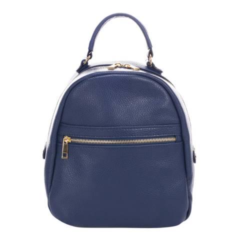 Giulia Massari Blue Leather Backpack