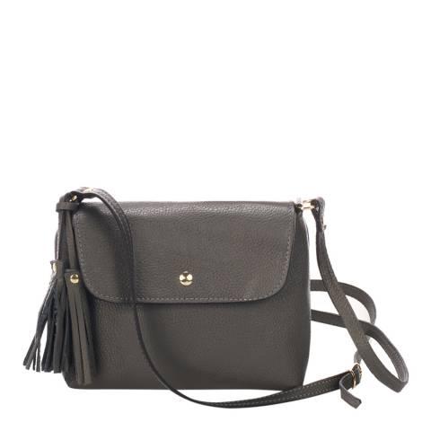 Massimo Castelli Grey Leather Crossbody Bag