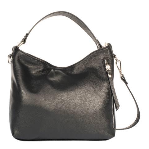 Giulia Massari Black Leather Shoulder Bag