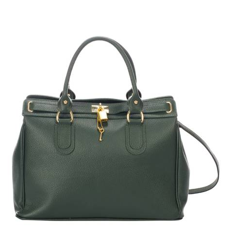 Giorgio Costa Green Leather Top Handle Bag