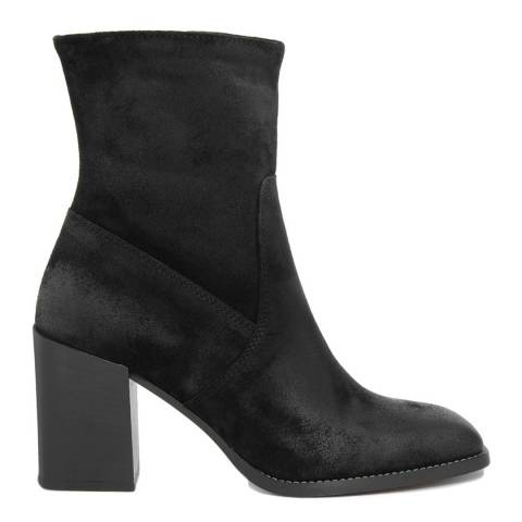 Gusto Black Suede Vintage Ankle Boot