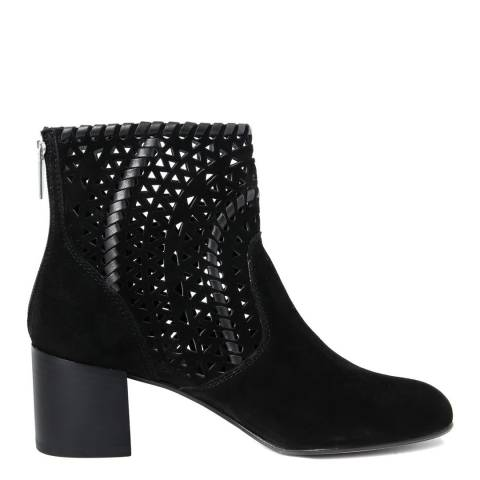 Gusto Black Rov Suede Heeled Ankle Boot
