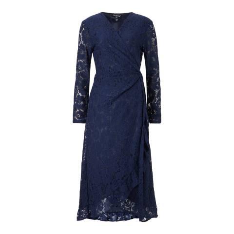 Baukjen Navy Lace Liza Wrap Dress
