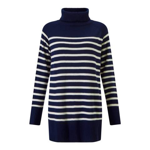 Baukjen Navy/White Stripe Josee Stripe Turtleneck