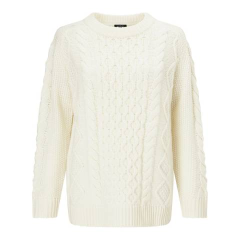Baukjen Cream Camilla Cable Knit Jumper
