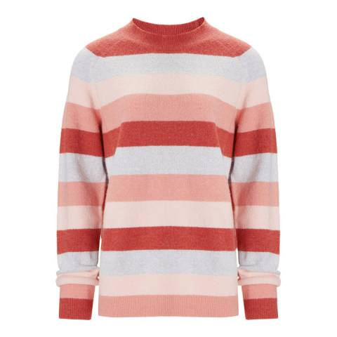 Baukjen Grey with Blush Stripes Flora Jumper