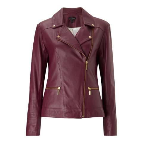 Baukjen Wine Kara Leather Jacket