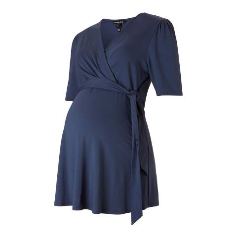 Isabella Oliver Petrol Blue Leigh Maternity Top