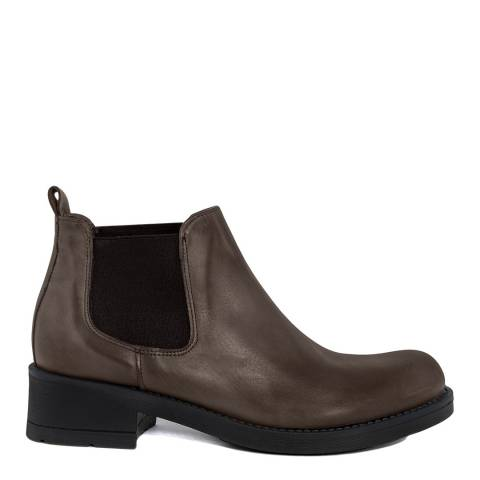 Pelledoca Brown Vintage Effect Leather Ankle Boot