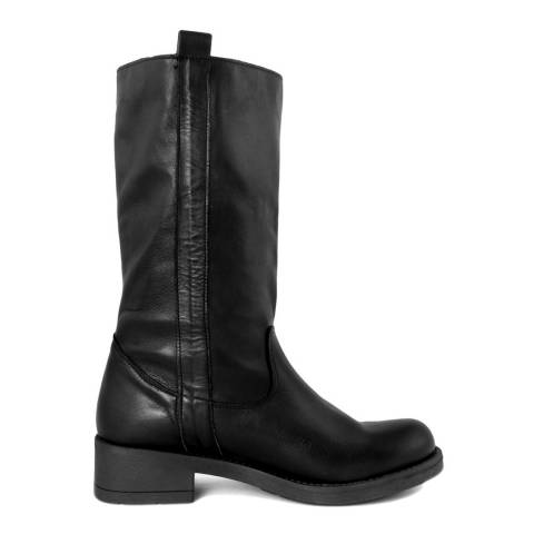 Pelledoca Black Iris Leather Boot