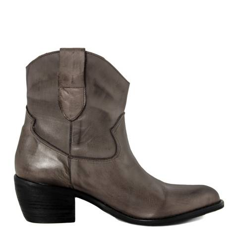 Pelledoca Brown Lia Leather Cowboy Ankle Boot