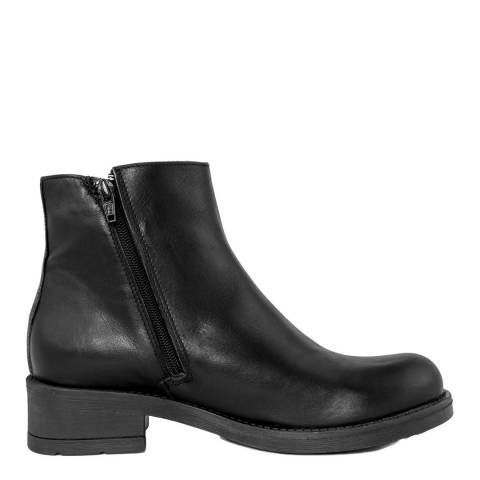 Pelledoca Black Sion Leather Ankle Boot