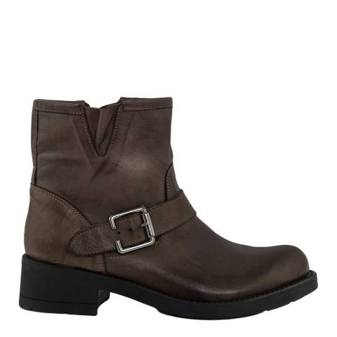 Pelledoca Brown Lory Leather Ankle Boot