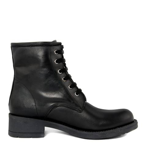 Pelladoca Black Vit Leather Biker Boot