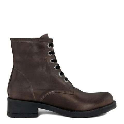 Pelledoca Brown Vit Leather Biker Boot