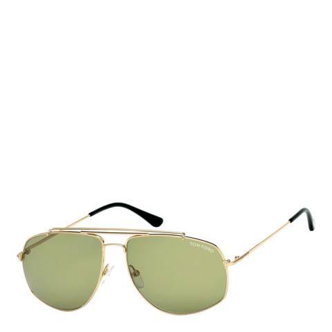 Tom Ford Unisex Shiny Dark Brown Tom Ford Sunglasses 50mm
