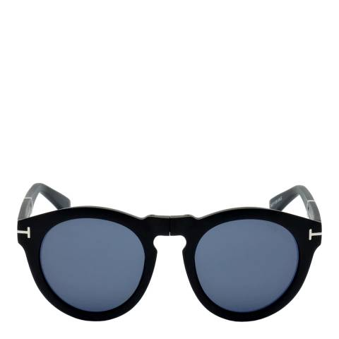 Tom Ford Unisex Black/Blue Tom Ford Sunglasses 50mm