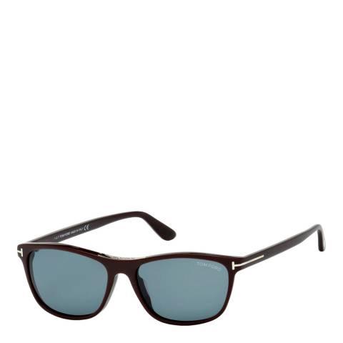 Tom Ford Men's Brown/Blue Tom Ford Sunglasses 56mm
