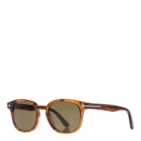 Tom Ford Unisex Brown Tom Ford Sunglasses 50mm