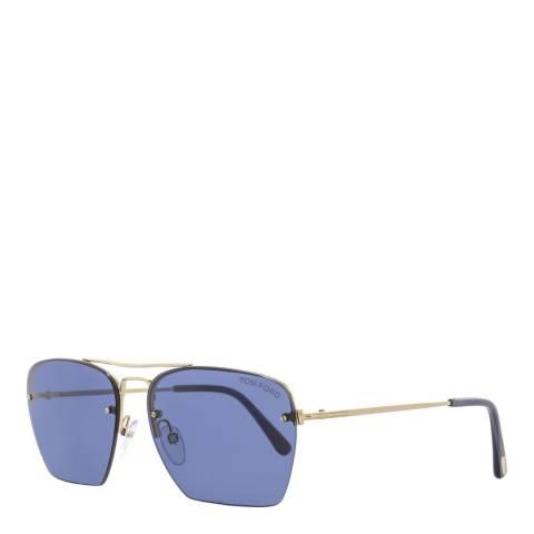 Tom Ford Men's Blue Tom Ford Sunglasses 57mm