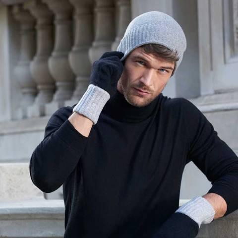 Mr Quintessential Grey Zephyr Luxury Cashmere Beanie