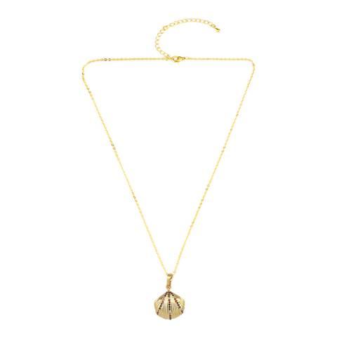 Arcoris Jewellery 18K Gold Plated Rainbow Seashell Necklace