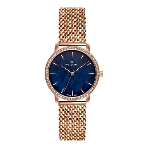 Frederic Graff Women's Rose Monte Leone Rose Gold Mesh Watch with Interchangeable Strap 18 mm