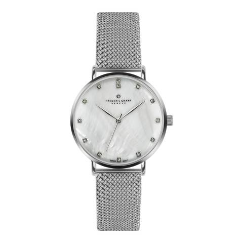 Frederic Graff Women's Silver La Singla Silver Mesh Watch with Interchangeable Strap 18 mm