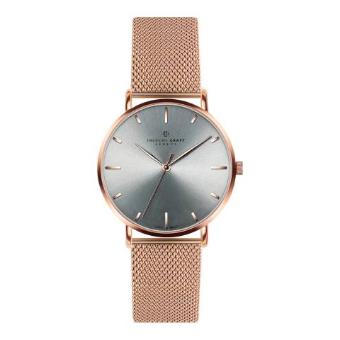 Frederic Graff Unisex Rose Eveque Rose Gold Mesh Watch with Interchangeable Strap 20 mm