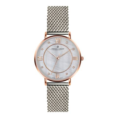 Frederic Graff Women's Rose Liskamm Silver Mesh Watch 18 mm