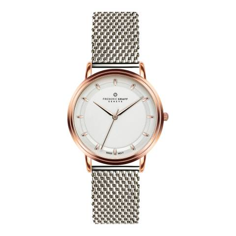 Frederic Graff Unisex Rose Matterhorn Silver Mesh Watch 20 mm