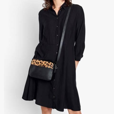 hush Black Domino Shirt Dress