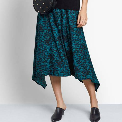 hush Green Evie Midi Skirt