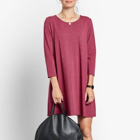hush Red Raven A Line Jersey Dress