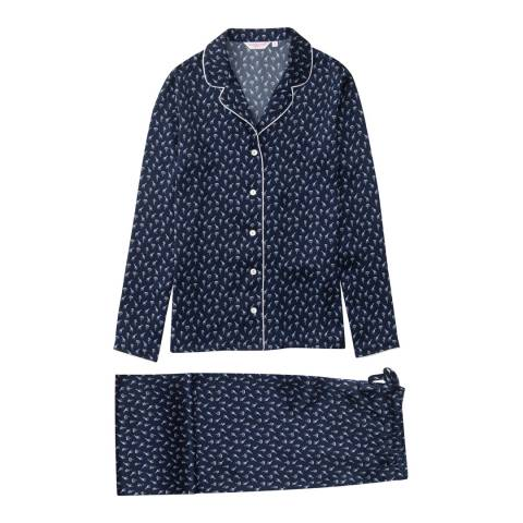 DEREK ROSE Brindisi 18 Navy Ladies Pyjama Set