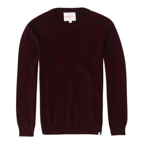 DEREK ROSE Finley 1 Burgundy Ladies Sweater