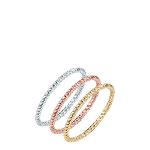 Carat 1934 Silver/Gold Ring Set