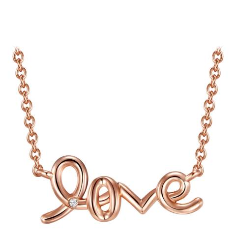 Tess Diamonds Rose Gold Diamond Love Necklace